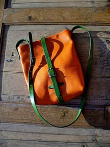 Kabelky - handmade-KERTAG®- STREET NATURE STŘEDNÍ Mandarín - 1522565