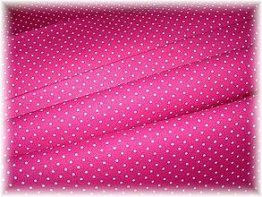 Textil - malinový puntíček - 1527549