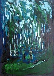 Grafika - Svetlo v lese - 1532432