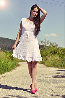 Šaty - Amalia white dress - 1535721
