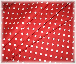 Textil - červenobílá bodka - 1536223