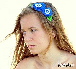 Ozdoby do vlasov - Čelenka belasá kvetná - 1539514
