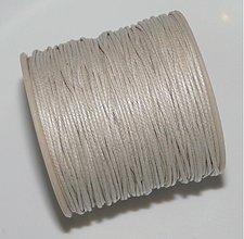 Galantéria - Vosk.šnúrka 1mm-1m (sv.šedá) - 1546075