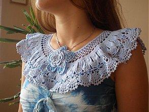 Náhrdelníky - Modrý golierik - 1549210