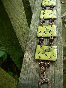 Náramky - větvičkový,zelený - 155205