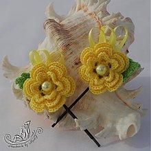 Ozdoby do vlasov - Žlté sponky - 1554303
