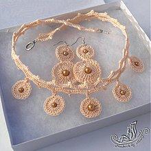 Sady šperkov - Béžová súprava - 1554778