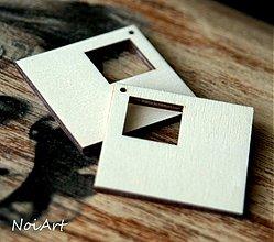 Materiál ručne robený - ŠTVORCE, s výrezom - 1554849