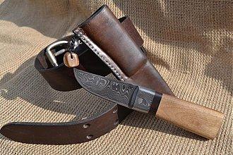 Nože - Damaškový nôž s púzdrom - 1559889