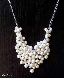 Náhrdelníky - Perličkový náhrdelník - 1561193