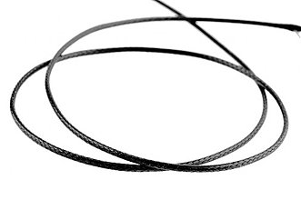 Galantéria - NAV857, Šnúrka lesklá 1mm ČIERNA /1m - 1573468