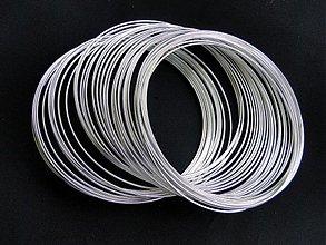 Suroviny - Pamäť.drôt 55mm-strieb-100 ot. - 1576246