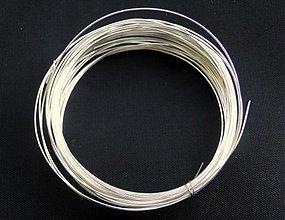 Suroviny - Postriebrený drôt - 1576250