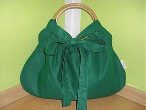 Kabelky - Bambuska - malá,krásne zelená:) - 1578322