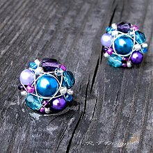 Náušnice - Náušničky Turquoise violets II... - 1580957