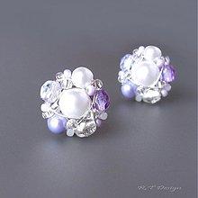 Náušnice - Náušničky Lilac sugar... - 1580994