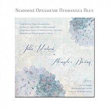 Papiernictvo - Svadobné oznámenie Hydrangea - 1585002