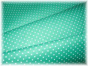 Textil - zelená bodka - 1586892