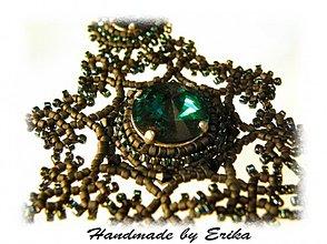 Náhrdelníky - Emerald Edea so striebornými komponentami - pre Yadu - 15958
