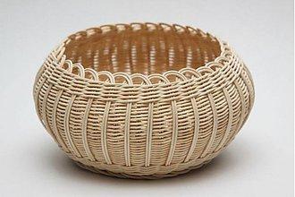 Košíky - Košík z pedigu s vypletaným dnom Suli - 159641