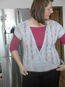 Svetre/Pulóvre - Zavinovaci sveter s nastrihnutymi rukavmi - 1605337