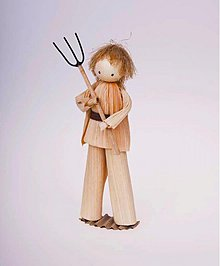 Dekorácie - Muž s vidlami - 1610354