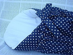 Textil - ♥♥♥Perinka tmavo modrá bodka♥♥♥ - 1610800