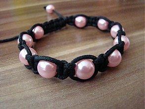 Náramky - shambala náramok ružový - 1619570