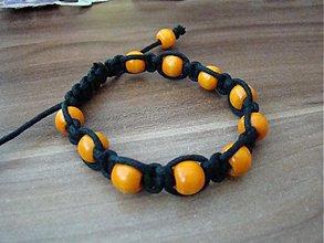 Náramky - shambala náramok oranžový - 1619917