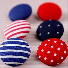 Materiál ručne robený - Námornícke buttonky 26 mm - 1620767