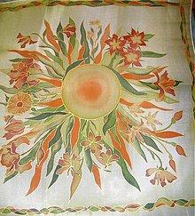 Šatky - V oranžovozelenej :) 74 x 74 cm - 1623664
