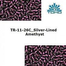 Korálky - 646-T051 TOHO rokajl 11/0 Silver-Lined Amethyst - 1623774
