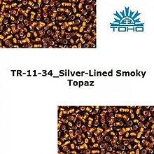 Korálky - 646-T054 TOHO rokajl 11/0 Silver-Lined Smoky Topaz - 1623782