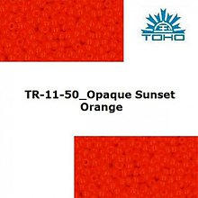 Korálky - 647-T059 TOHO rokajl 11/0 Opaque Sunset Orange - 1623803