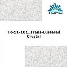 Korálky - 643-T060 TOHO rokajl 11/0 Trans-Lustered Crystal - 1623808