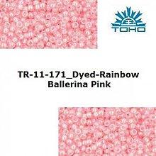 Korálky - 646-T062 TOHO rokajl 11/0 Dyed-Rainbow Ballerina Pink - 1623814