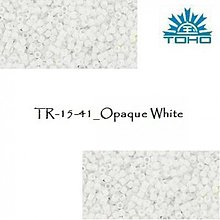 Korálky - T511 TOHO rokajl 15/0 Opaque White - 1629047