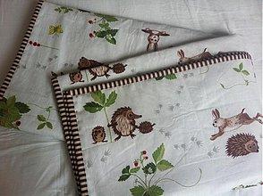 Textil - Ježkovia šli na jahôdky - 1641812