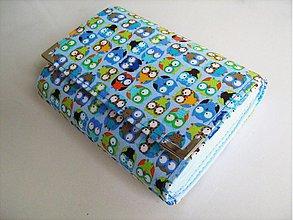 Peňaženky - Veselé minisovičky v modré - zipová i na karty :-) - 1645975
