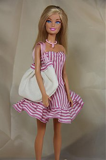 Hračky - Letné šaty pre BARBIE+kabelka - 1646001