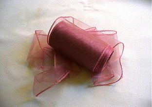 Galantéria - organzová stuha 11cm vintage ružová - 1655413