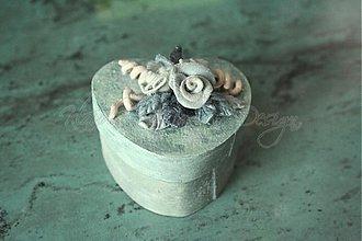 Krabičky - krabička srdce ružičky 6 - skladom - 1668000