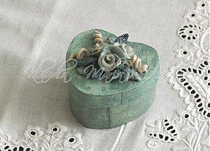 Krabičky - krabička srdce ružičky 6 - skladom - 1668001