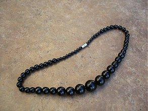 Náhrdelníky - Perlový náhrdelník (čierny) - 1668149