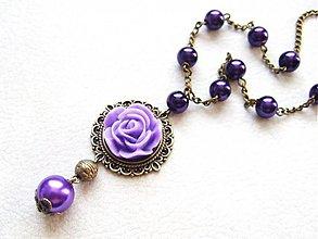 Náhrdelníky - fialový púčik - 1670294