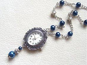 Náhrdelníky - hodinky v modrom - 1672605