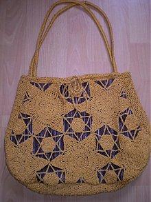 Kabelky - Medová háčkovaná taška - 1672971
