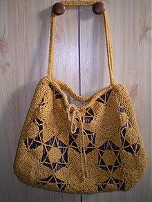 Kabelky - Medová háčkovaná taška - 1672974