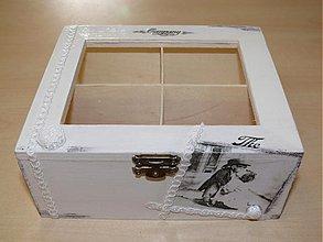 Krabičky - Krásna retro šperkovnica s priečinkami - VINTAGE - 1674075