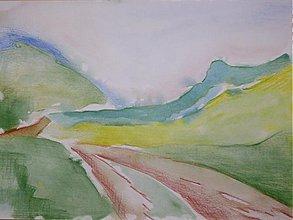 Obrazy - Pokoj na dedine - akvarel A4 - 1674302